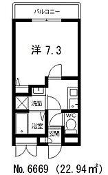 ラパンジール四天王寺東[9階]の間取り