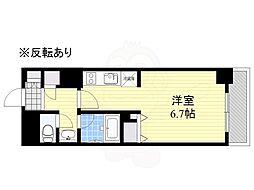 HF駒沢公園レジデンスTOWER 17階ワンルームの間取り