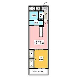 ウィステリア東春田[1階]の間取り