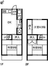 [テラスハウス] 愛知県名古屋市緑区六田2丁目 の賃貸【/】の間取り