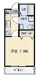 ハイメゾン飯田橋 1階1Kの間取り