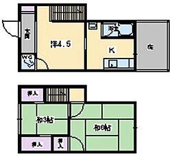[一戸建] 兵庫県伊丹市北野1丁目 の賃貸【/】の間取り