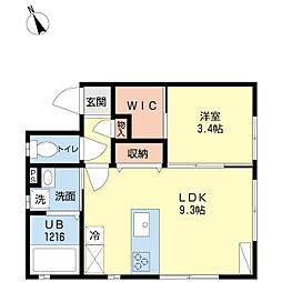 新潟県新潟市中央区関南町の賃貸アパートの間取り