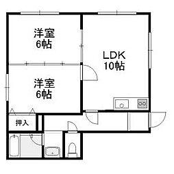 コーポラス北澤[3階]の間取り