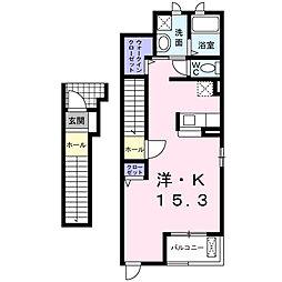 フィオーレツカサIII A棟[2階]の間取り