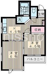 3459−ロイヤルハイツ・エム[2階]の間取り