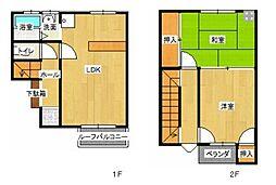 [テラスハウス] 岩手県北上市大堤東3丁目 の賃貸【/】の間取り