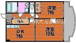 アークハイツ鹿田[10階]の間取り