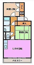 シャトー粟島[107号室]の間取り