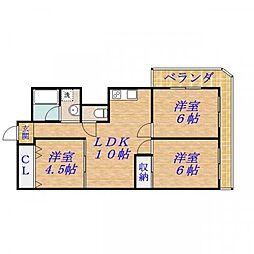 シャトード・ソレ[5階]の間取り