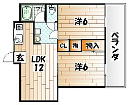 CLEO石坪[4階]の間取り