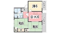 タウニィ優生[A102号室]の間取り