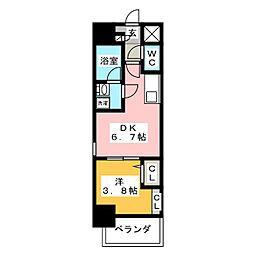 ポルタニグラ大須[8階]の間取り