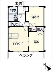 サントピア21A棟[2階]の間取り