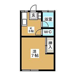 サンフラワーアパート[2階]の間取り