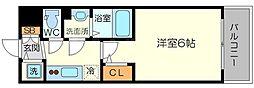 エスリード新大阪グランゲートノース 8階1Kの間取り