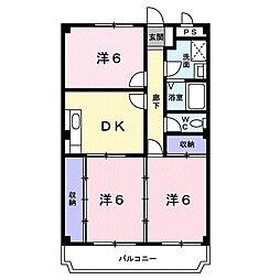 花崎マンション[2階]の間取り