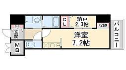 ONLYONE鶴之荘[902号室]の間取り