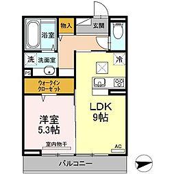 (仮)D-room西原駅前[303号室]の間取り