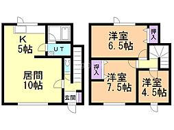 中村メゾネットIII 1階3LDKの間取り