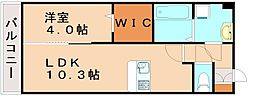 アルバ桜坂[2階]の間取り