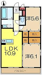 スカイヒル横濱六ッ川B棟[1階]の間取り
