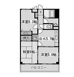 サンフラワーK[2階]の間取り