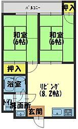 カトレアマンション[5階]の間取り
