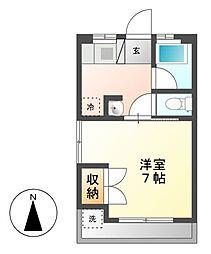 タウンコート本山[1階]の間取り