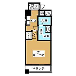 BPRレジデンス久屋大通公園[4階]の間取り