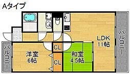 レオ住之江公園[4階]の間取り