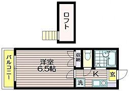 フィンズ437[2階]の間取り