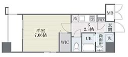 西鉄天神大牟田線 高宮駅 徒歩21分の賃貸マンション 6階1Kの間取り