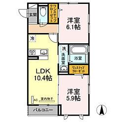 仮)D-room殿町[303号室]の間取り