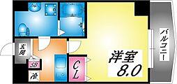 JR東海道・山陽本線 摩耶駅 徒歩4分の賃貸マンション 6階1Kの間取り