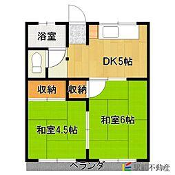 寿アパート[102号室]の間取り