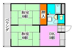 ゴールドコーポ[2階]の間取り