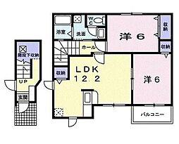 サニ−ハウスV[0201号室]の間取り