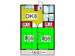 ハイツ吉田[205号室]の間取り