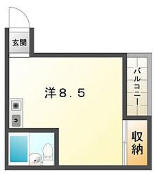 シャト−ユニオン[3階]の間取り