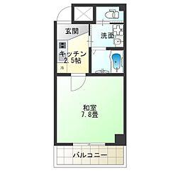 TOYOTOMI STAY PREMIUM NAGAHASHI 5階1Kの間取り