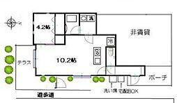 JR総武線 荻窪駅 徒歩12分の賃貸一戸建て 1階1LDKの間取り