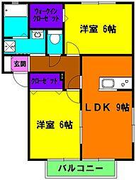 静岡県浜松市南区恩地町の賃貸アパートの間取り