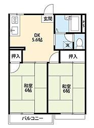 マリオンII[2階]の間取り