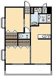 (新築)下北方町常盤元マンション[205号室]の間取り