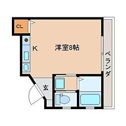 静岡県静岡市葵区上土2丁目の賃貸マンションの間取り