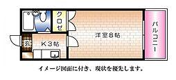エステート平成--[107号室]の間取り
