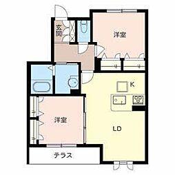シャーメゾン竹城庵[1階]の間取り