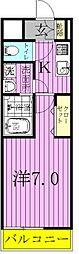 千葉県柏市関場町の賃貸アパートの間取り