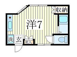 コーポ天子山NO3[1階]の間取り